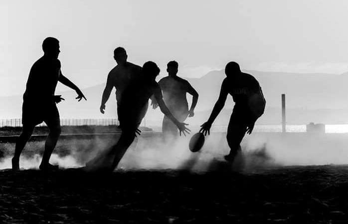 Rugby en la playa